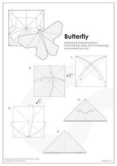Kade Chan Origami Blog 香港摺紙工作室 (日誌): Origami Butterfly 摺紙蝴蝶