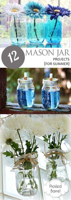 12 Mason Jar Projects {For Summer}