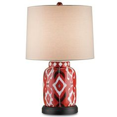 Contemporary Ikat Jar Table Lamp - Shades of Light