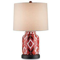 Contemporary Ikat Jar Table Lamp - Shades of Light