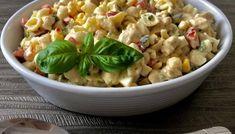 Sałatka makaronowa z kurczakiem Donia, Tzatziki, Pasta Salad, Potato Salad, Macaroni And Cheese, Oatmeal, Food And Drink, Lunch, Fish