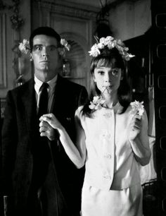 Audrey Hepburn and James Garner on the set of 'The Children's Hour', photographed by Bob Willoughby, 1961.