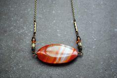 Medium Necklaces – Natural Agate Boho Necklace – a unique product by Aquarellia on DaWanda