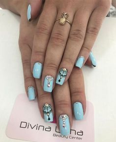 Perfumery and Cosmetics Love Nails, My Nails, Modern Nails, Pretty Nail Art, Manicure E Pedicure, Nail Art Hacks, Nails Inspiration, Beauty Nails, Hair And Nails