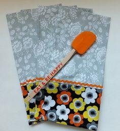 4 Modern Gray Dish Towels Tea Towels Wild Crow by juliegalbraith, $28.00