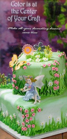 Fairies Cake This is a birthday cake with a fairy theme. It is inspiring my designs for my baked good
