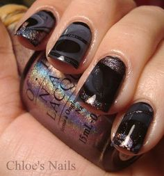 this is the prettiest water marbling manicure i've seen yet! love this idea, and the colors she used!