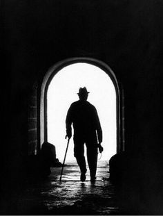 Ghost man with a cane