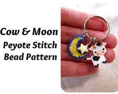 Ostrich Seed Beads Pattern Peyote Stitch Charm by BeadCrumbs