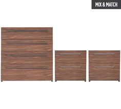 Buy Hygena Atlas 2 Bedsides & 4 Drawer Package - Walnut Effect at Argos.co.uk - Your Online Shop for Bedroom suites and packages, Bedroom furniture, Home and garden.