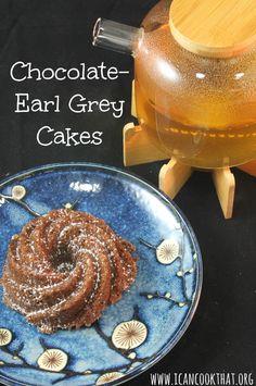 Chocolate Earl Grey Cakes