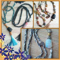 Buddha Mala auf www. Buddha Armband, Tassel Necklace, Tassels, Amethyst, Yoga, Jewelry, Pink Quartz, Crystals, Silk