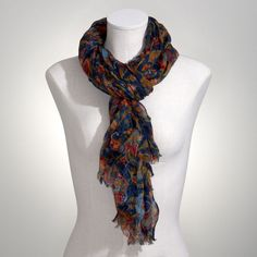 Jones New York: Accessories > Scarves & Hats > Paisley Print Crinkle Scarf