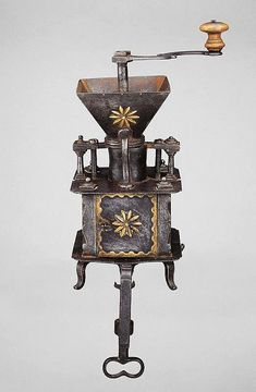 TABLE TOP COFFEE MILL, Flanders, circa 1770. - by Koller Auctions