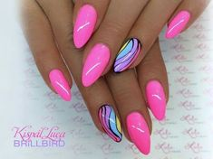 Want some ideas for wedding nail polish designs? This article is a collection of our favorite nail polish designs for your special day. Funky Nails, Neon Nails, My Nails, Funky Nail Art, Trendy Nail Art, Nail Polish Designs, Cool Nail Designs, Acrylic Nail Designs, Cute Acrylic Nails