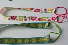 Headbands from ribbons and ponytail holders