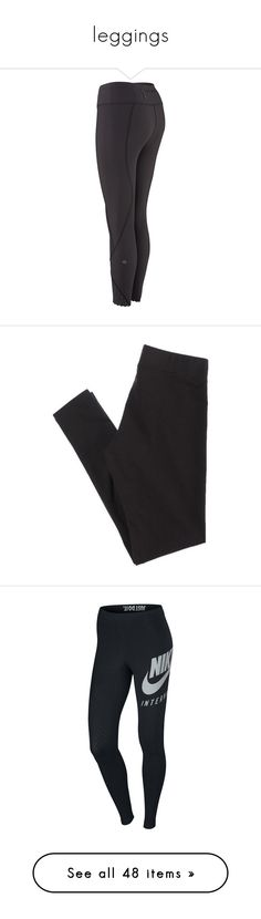 """leggings"" by ctrygrl1999 ❤ liked on Polyvore featuring pants, leggings, legging pants, nike, bottoms, jeans, cotton spandex pants, elastic waistband pants, short trousers and short leggings"