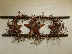 Star Ladder Wall Decor Country Primitive Home Decor Berries - DIY and Crafts Primitive Homes, Primitive Crafts, Country Primitive, Primitive Signs, Primitive Christmas, Rustic Crafts, Country Crafts, Decor Crafts, Diy Home Decor