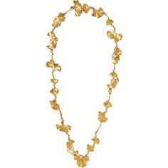 Aurélie Bidermann Tangerine gold-plated necklace (8,420 CNY) ❤ liked on Polyvore featuring jewelry, necklaces, gold plated jewellery, chain necklaces, vine jewelry, chains jewelry and leaf jewelry