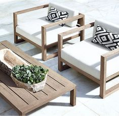 RH's Aegean Teak Lounge Chair:Influenced by the low, linear silhouettes of seaside architecture, our contemporary collection is designed by a family-owned company in Australia known for its meticulous craftsmanship. Its teak construction and simple geometry enable it to weather the elements in enduring style. #outdoorfurniture #TeakOutdoorFurnituresimple