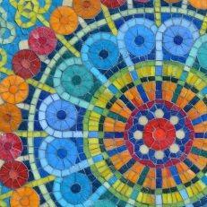 Mandala pared detalle Mural Mosaiquismo