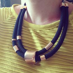 Double rope necklace
