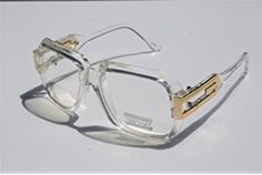 1e69c6dc1780 Square Cazal Gazelle Style SunGlasses Gold Metal Accents DMC - Multi  Selection Clear Frame   Clear
