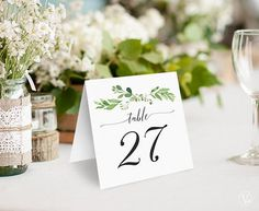 Greenery Wedding Table Numbers 140 Wedding Table Numbers