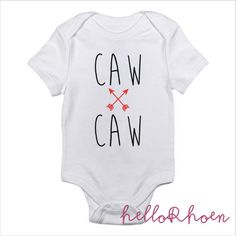 Caw Caw Tula Inspired Baby Onesie by HelloRhoen on Etsy