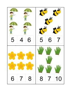 Spring Activities for Kids Learning English For Kids, English Worksheets For Kids, Kindergarten Math Worksheets, Fall Preschool Activities, Preschool Printables, Number Activities, Spring Activities, Numbers For Kids, Numbers Preschool