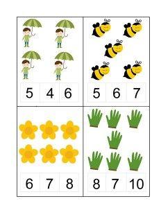 Spring Activities for Kids Kindergarten Math Activities, Kindergarten Math Worksheets, Montessori Math, Activities For Kids, Number Activities, Numbers For Kids, Numbers Preschool, Preschool Printables, English Grammar For Kids
