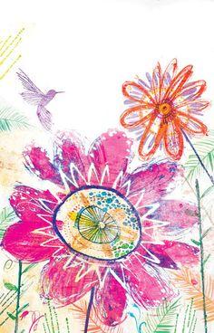 Introducing illustrator, Laura Hughes...   Flowerona