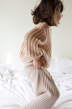 Fully fashioned knit loungewear - the ultimate comfies for children and babies, made with certified organic cotton. Available in sizes 6M-6Y. Based in New Zealand, shipping worldwide. Organic Baby, Organic Cotton, Made Clothing, Loungewear, Knitwear, Turtle Neck, Babies, Studio, Knitting