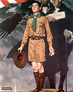 """A Scout Is Loyal"" by Norman Rockwell – American) Norman Rockwell Art, Norman Rockwell Paintings, Cub Scouts, Girl Scouts, Eagle Scout Ceremony, Scout Leader, Thing 1, Poster, American Artists"