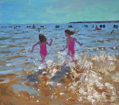Splashing In The Sea by Andrew Macara