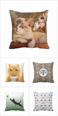 A collection of throw pillow with a cat theme to add some fun to your home decor. Unique ideas for you or the cat lover in your life. Beautiful Bedrooms, Some Fun, Cat Lovers, Throw Pillows, Cats, Link, Collection, Home Decor, Toss Pillows