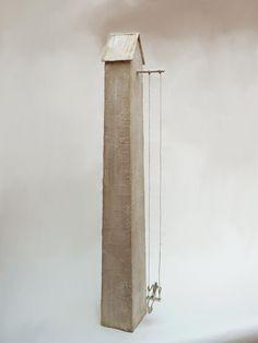 Antoine Jossé 1970 ~ Surrealist sculptor and painter Clay Houses, Ceramic Houses, Miniature Houses, Paper Clay, Clay Art, Paper Art, Modern Art Sculpture, Tadelakt, Wire Art