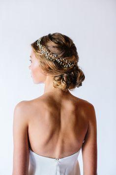 Top 20 Bridal Headpieces of 2016 — the bohemian wedding Bohemian Wedding Hair, Bohemian Bride, Headpiece Wedding, Wedding Updo, Bridal Headpieces, Bridal Hair, Wedding Hairstyles For Long Hair, Bride Hairstyles, Hair Flow