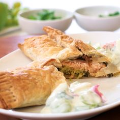 What's healthier but just as satisfying as traditional #biryani? This salmon biryani wrapped in flaky phyllo pastry from Singapore celeb chef Devagi Sanmugam. Try it! #indianfood #recipe #easyrecipes