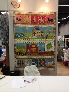 Quilt Market Spring 2013 | Flickr - Photo Sharing! Strip Quilts, Mini Quilts, Quilt Blocks, House Quilts, Boy Quilts, Patchwork Quilt Patterns, Applique Quilts, Beach Quilt, Farm Quilt