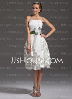 Homecoming Dresses - $147.99 - A-Line/Princess Sweetheart Short/Mini Organza Homecoming Dress With Ruffle Sash Feather (022009149) http://jjshouse.com/A-Line-Princess-Sweetheart-Short-Mini-Organza-Homecoming-Dress-With-Ruffle-Sash-Feather-022009149-g9149