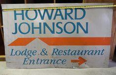1950 HOWARD JOHNSON/'S Restaurant /& Ice Cream Vintage Look REPLICA METAL SIGN