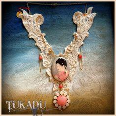 Lacenecklace - Spitzenhalskette - Lacecollier #asiaflair #necklace #LaceNecklaces  #Spitzencollier #Lacecollier #partyoutfit
