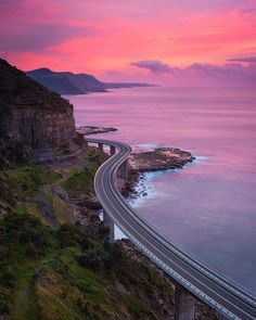 This morning at Sea Cliff Bridge there was some beautiful light that lasted for a brief moment at sunrise just before the grey skies took over again. by _danieltran_