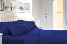 Clara Clark Egyptian Comfort 1800 Count 4 Piece Deep Pocket Bed Sheet Set.  Sizes: California King - King - Queen - Full - Twin - Twin XL - Split King