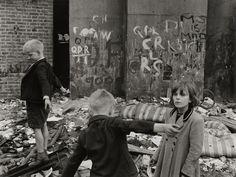 Bomb Site, Portland Road, North Kensington, London, By Roger Mayne. Teddy Girl, Teddy Boys, Vintage London, Old London, West London, Roger Mayne, William Eggleston, London History, Fun Fair