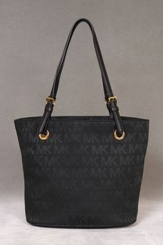 Michael Kors Item Tote in Black and Black