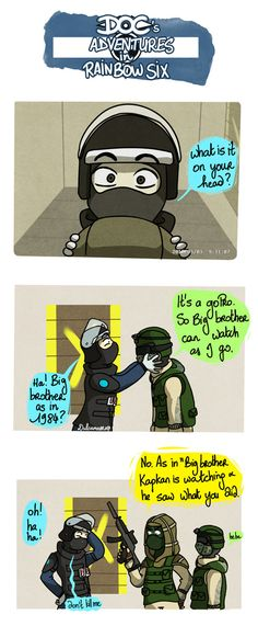 Sequel to this: dulcamarra.deviantart.com/art/… Do not mess with the Spetsnaz. (I don't want to see what Tachanka would have made to Doc so I settled for Kapkan) Rainbox Six Siege © Ubi...
