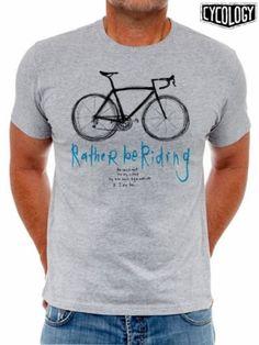 Ga jij ook liever fietsen? Dan past dit t-shirt met daarop een print met een handgetekende racefiets helemaal bij jou. The sun is out. The sky is blue. My bike wants to go outside & I do too.....