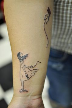 let it go... kite tattoo